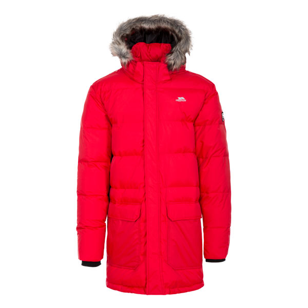 Trespass-Baird-Mens-Down-Jacket-Longer-Length-Coat-in-Red-Black-amp-Blue thumbnail 19