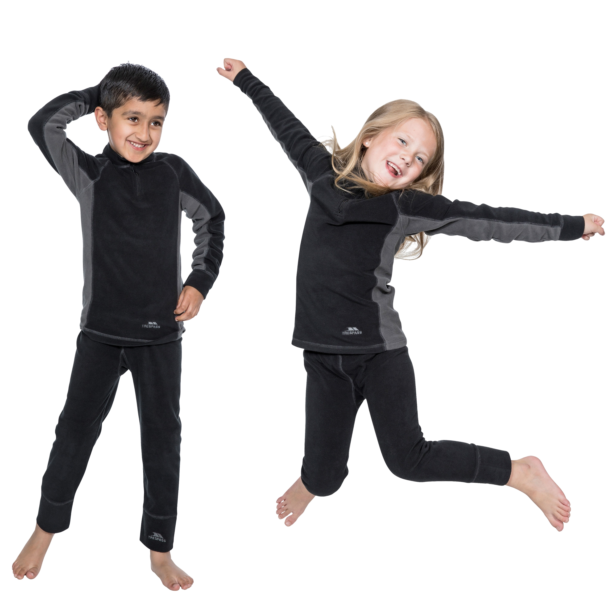 Trespass Bubbles Kids Base Layer Set Boys & Girls Long Sleeve Top and  Trousers | eBay