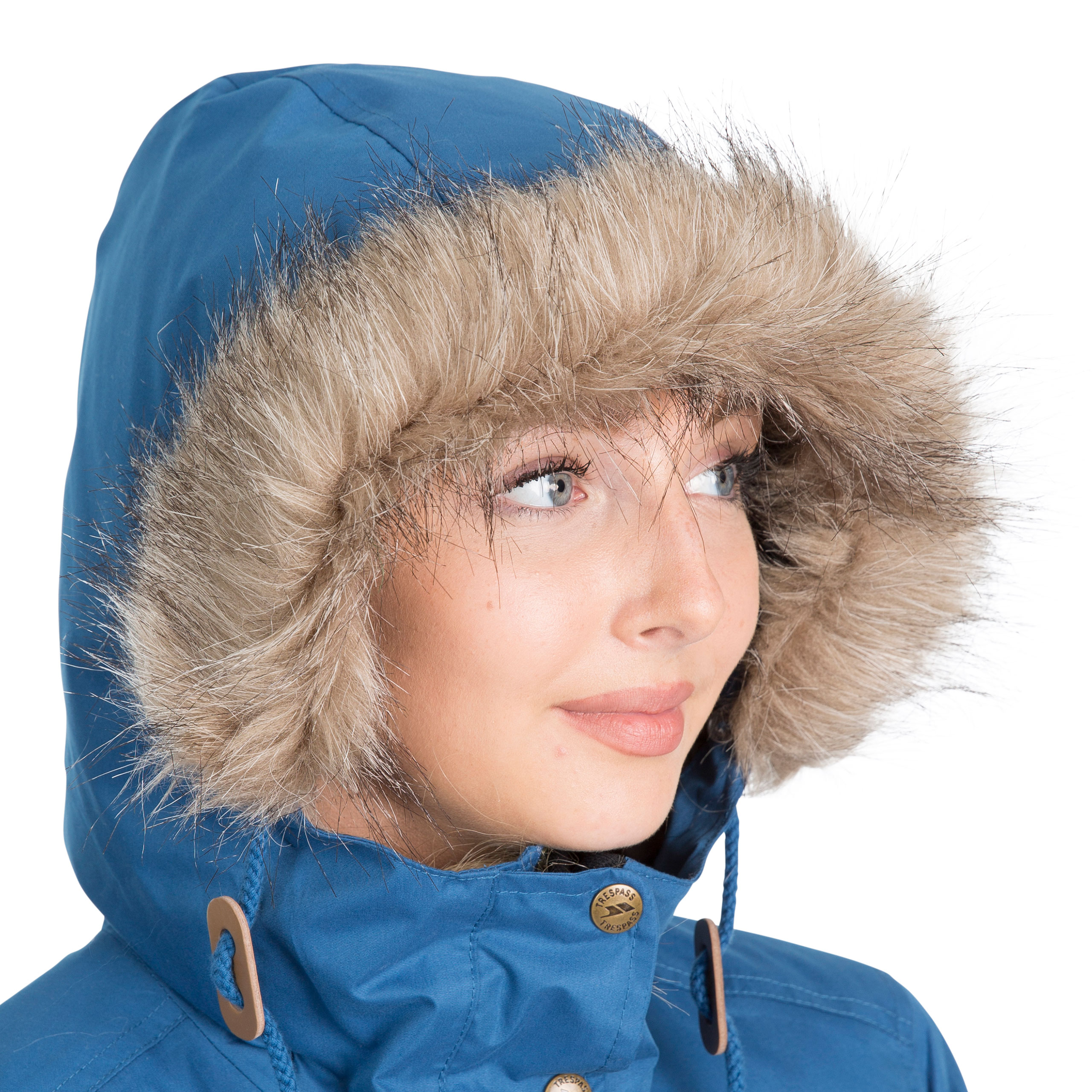 Trespass-Womens-Parka-Jacket-Waterproof-Hooded-Fur-Winter-Coat-XXS-XXXL thumbnail 19