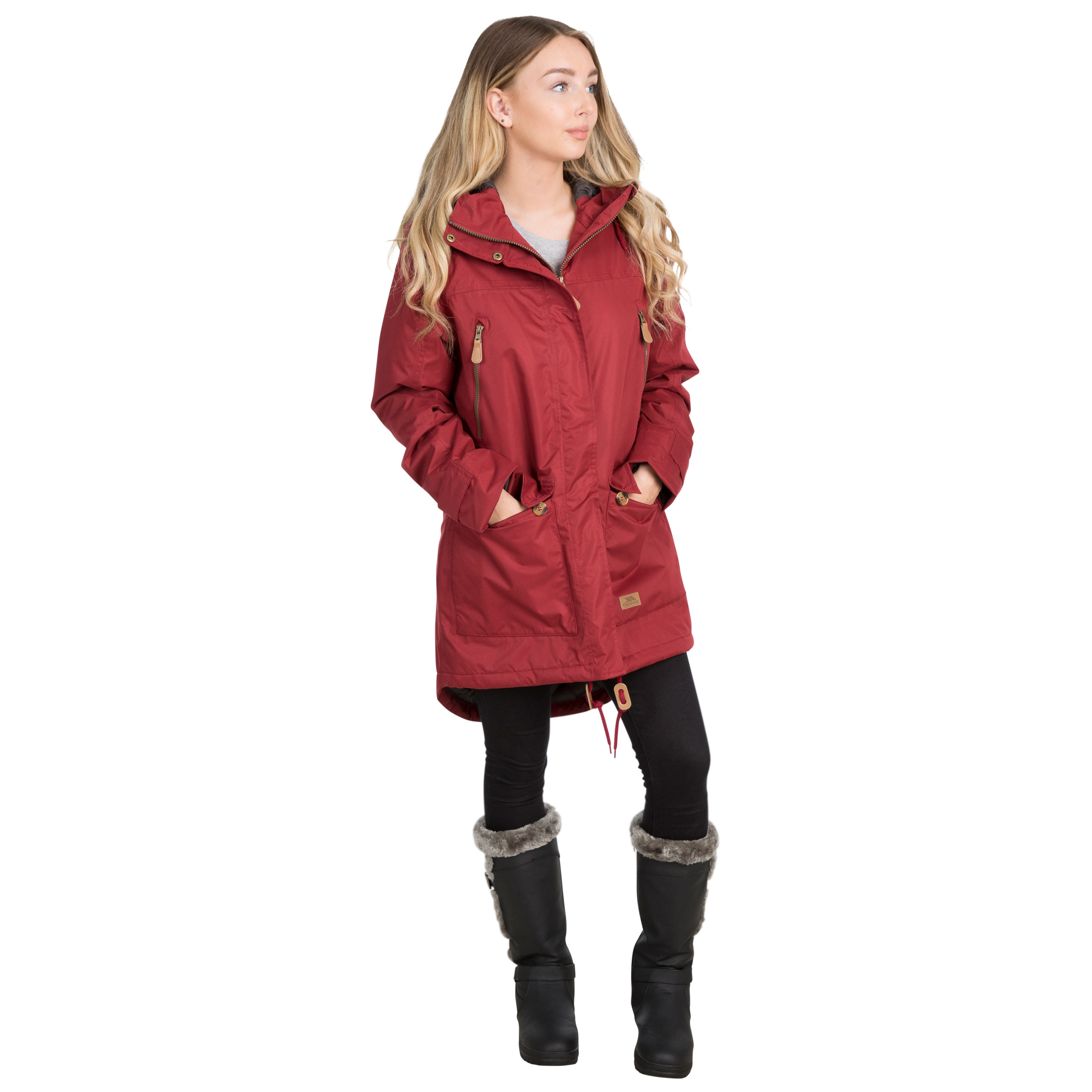 Trespass-Womens-Parka-Jacket-Waterproof-Hooded-Fur-Winter-Coat-XXS-XXXL thumbnail 22
