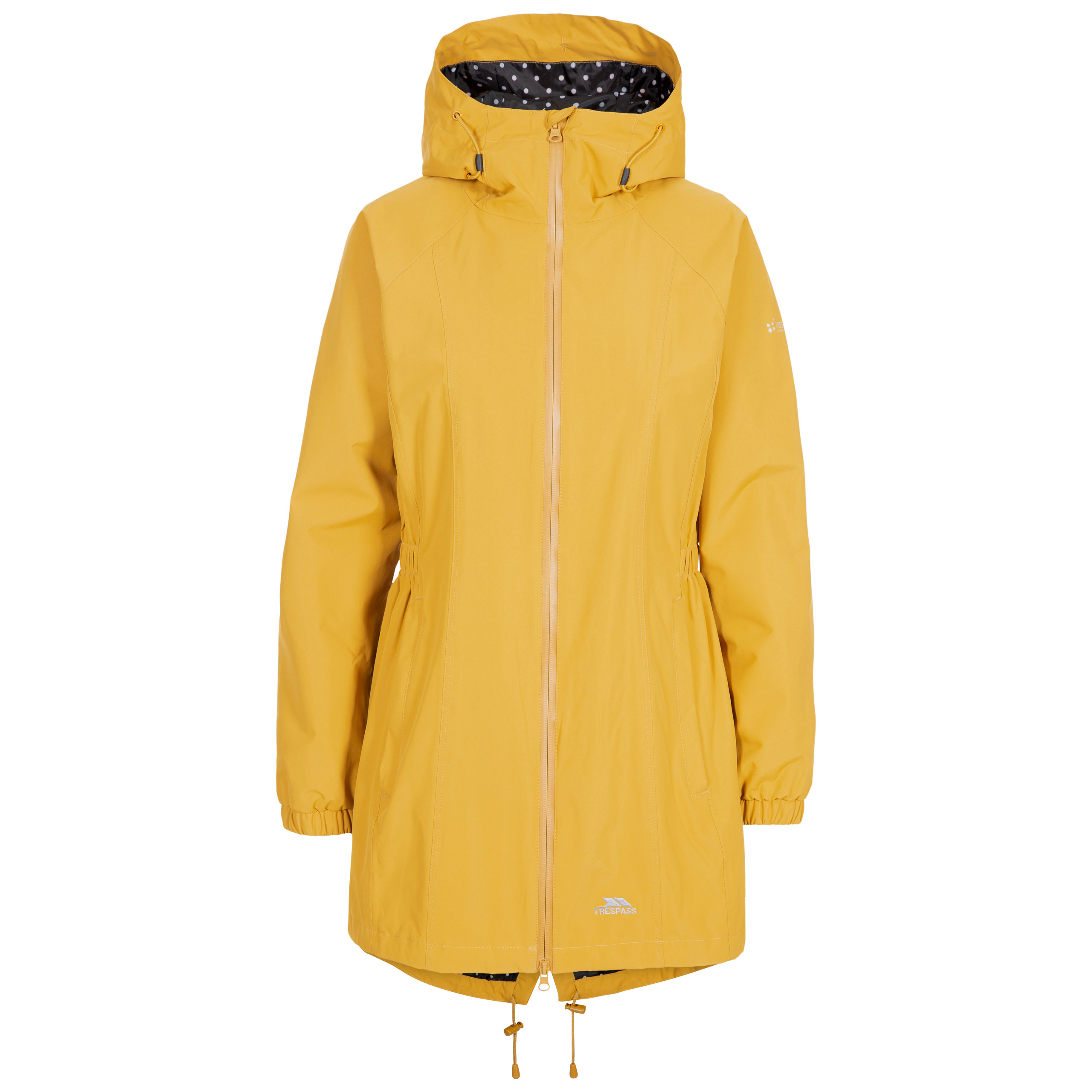 Trespass-Womens-Parka-Jacket-Hooded-Waterproof-Longline-Coat-Polka-Dot thumbnail 17