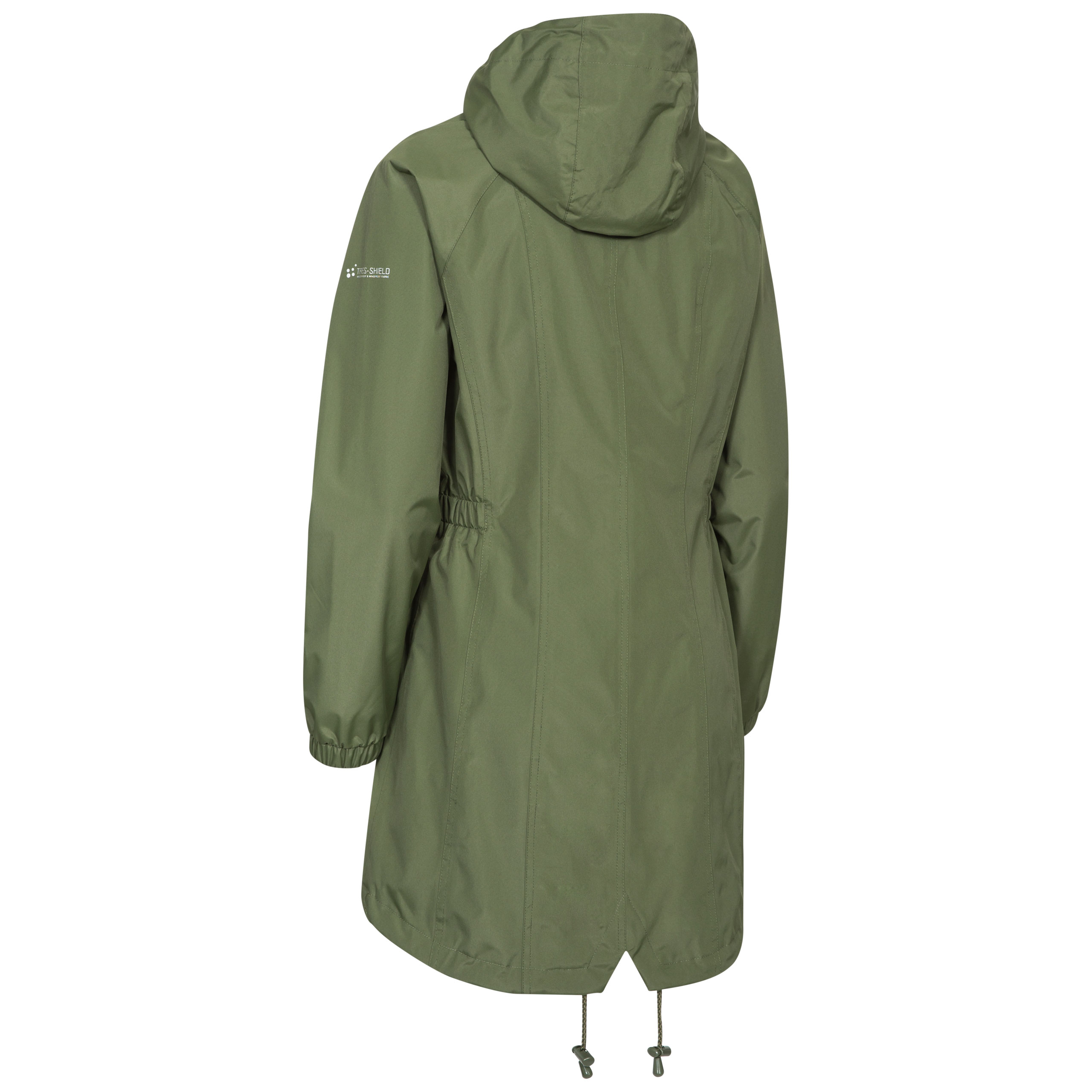 Trespass-Womens-Parka-Jacket-Hooded-Waterproof-Longline-Coat-Polka-Dot thumbnail 19