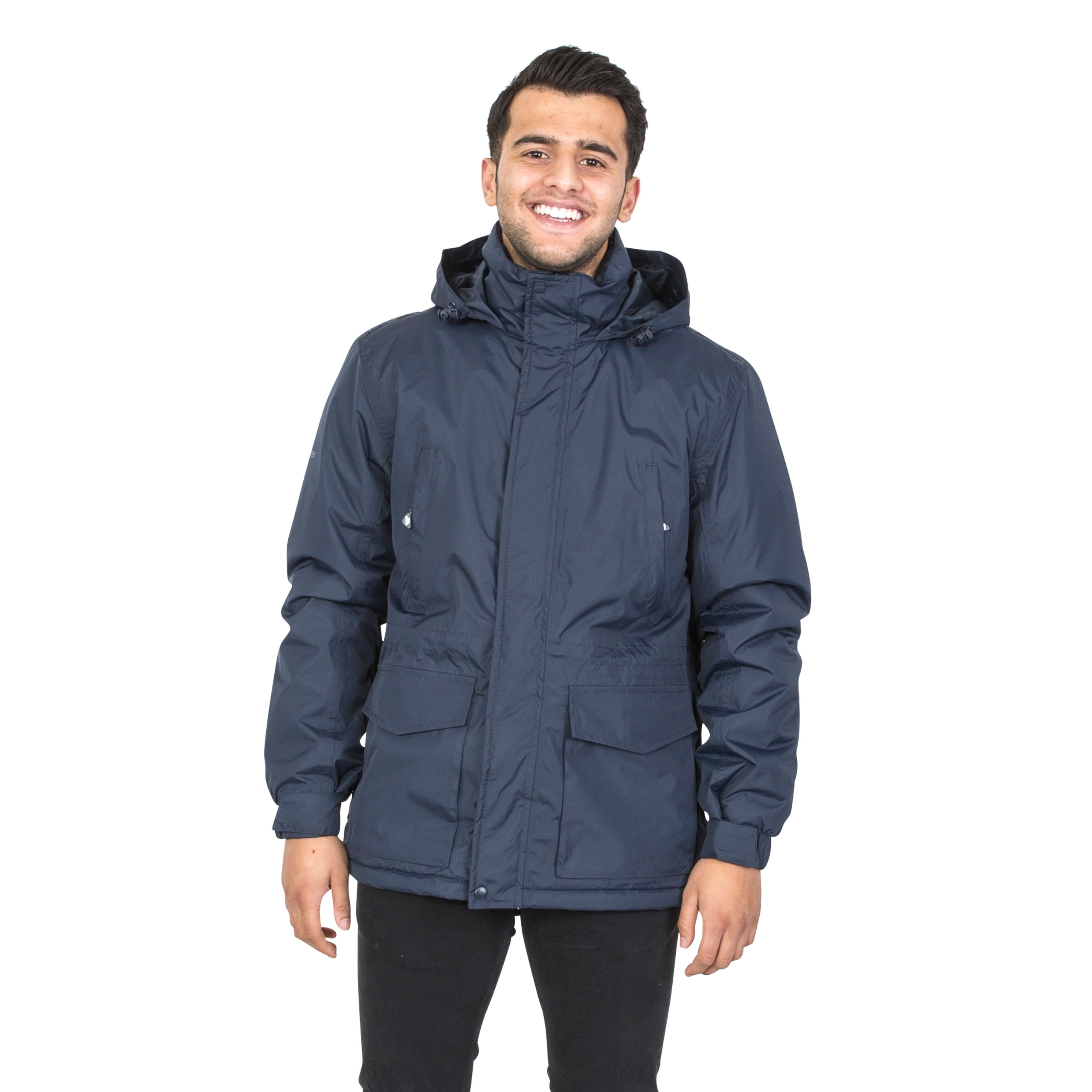 Trespass-Mens-Winter-Jacket-Padded-Waterproof-Insulated-Coat-in-Navy-Black thumbnail 14