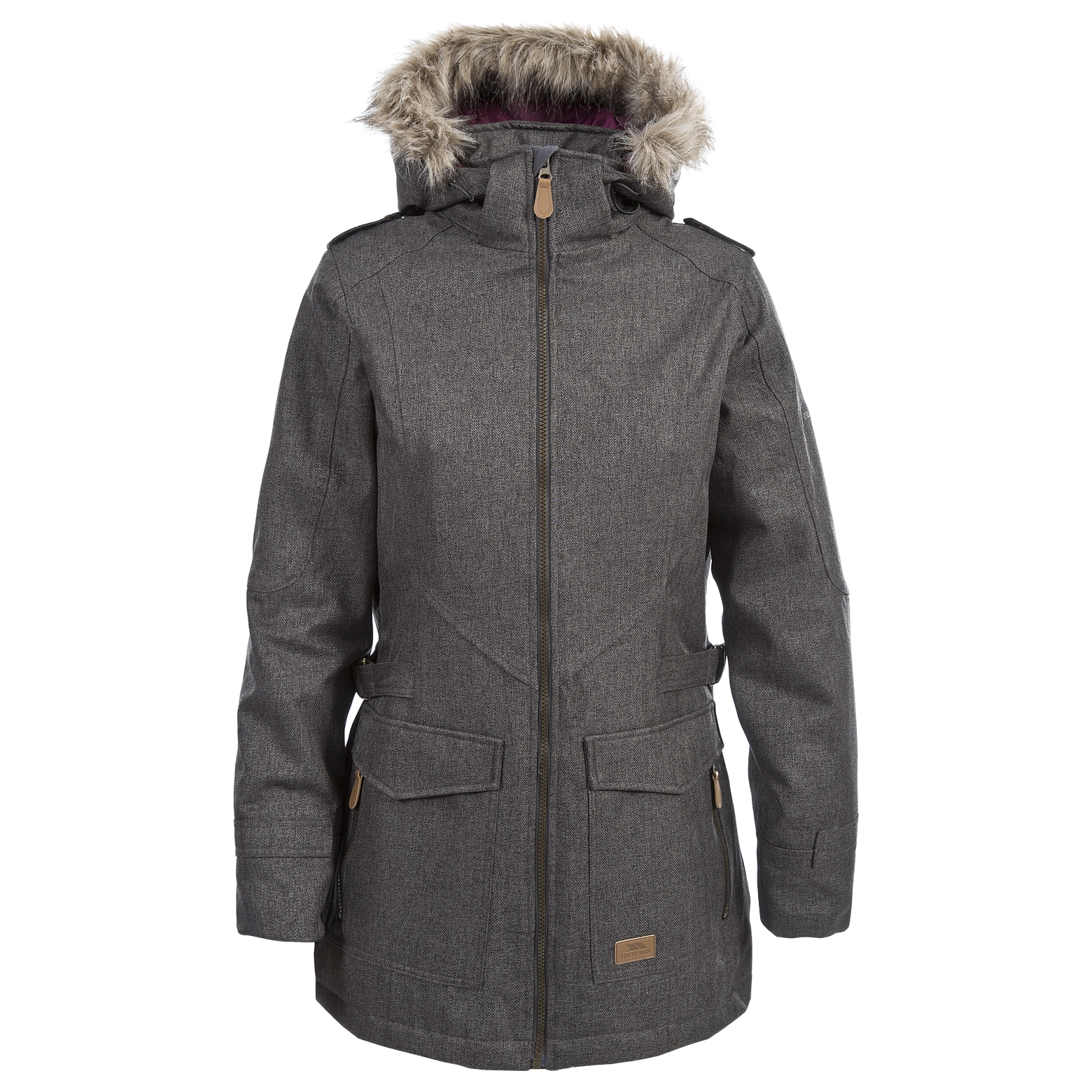 Trespass-Womens-Parka-Jacket-Waterproof-Longline-Padded-Raincoat thumbnail 14