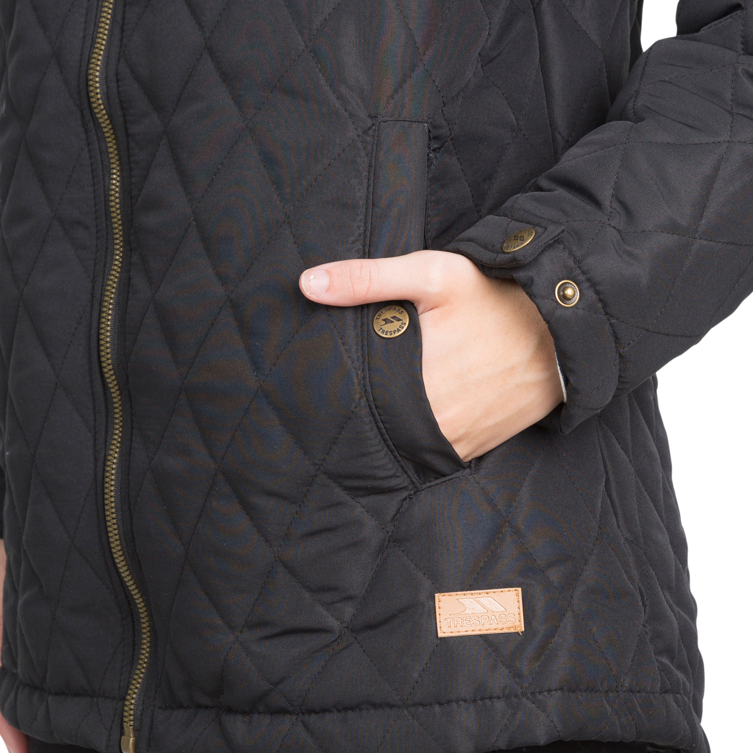 Trespass-Genevieve-Womens-Padded-Jacket-Casual-Quilted-Coat-With-Hood thumbnail 13