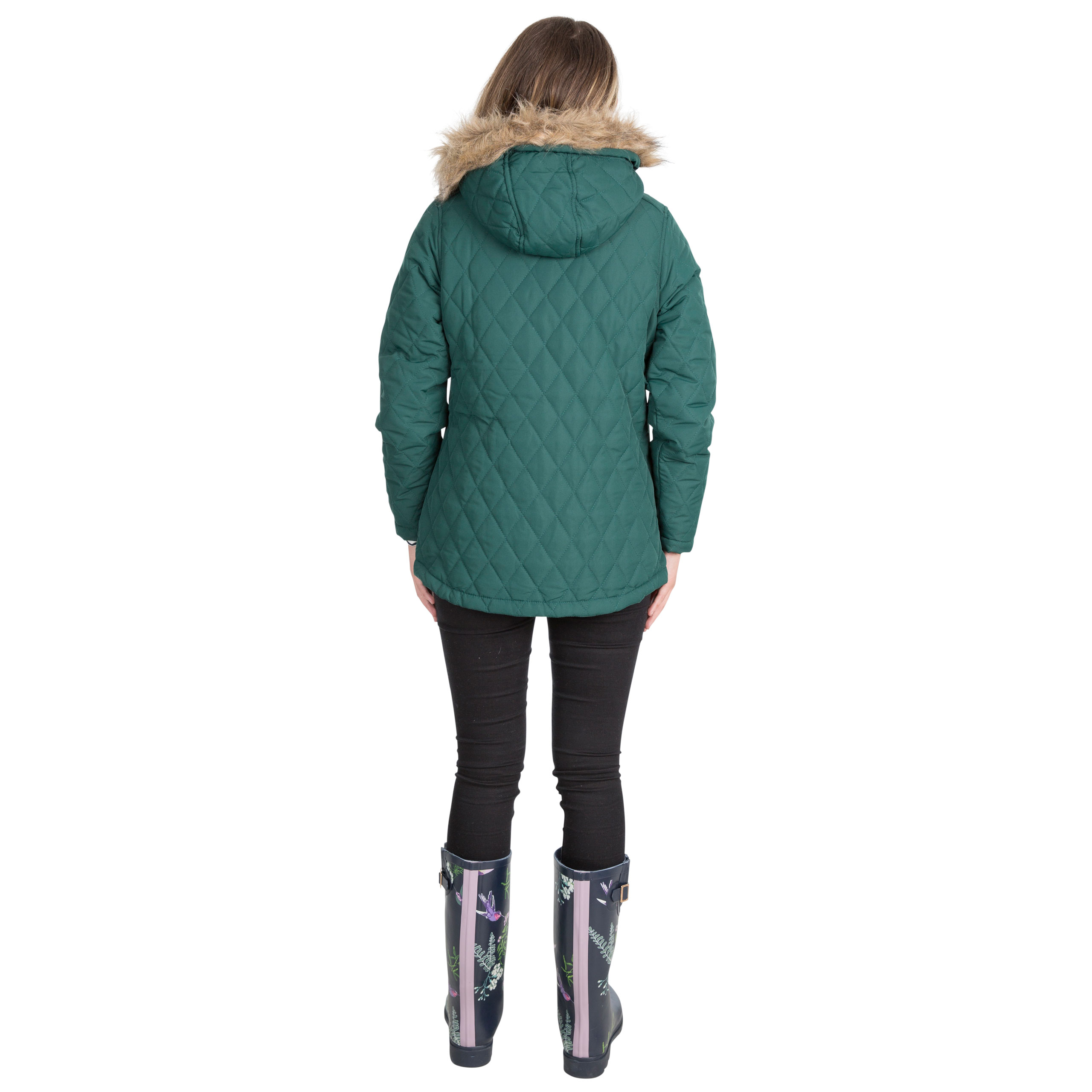 Trespass-Genevieve-Womens-Padded-Jacket-Casual-Quilted-Coat-With-Hood thumbnail 15