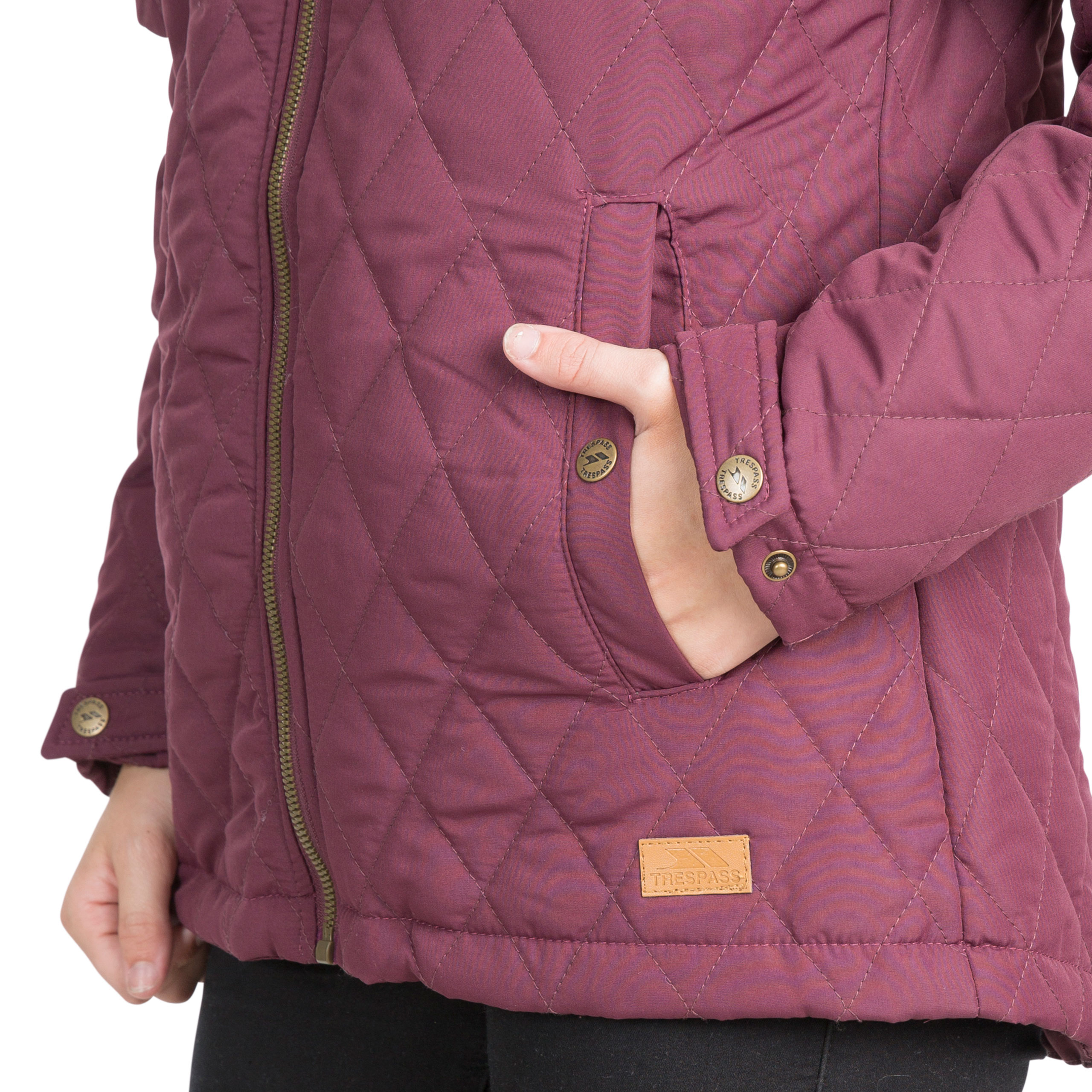 Trespass-Genevieve-Womens-Padded-Jacket-Casual-Quilted-Coat-With-Hood thumbnail 17