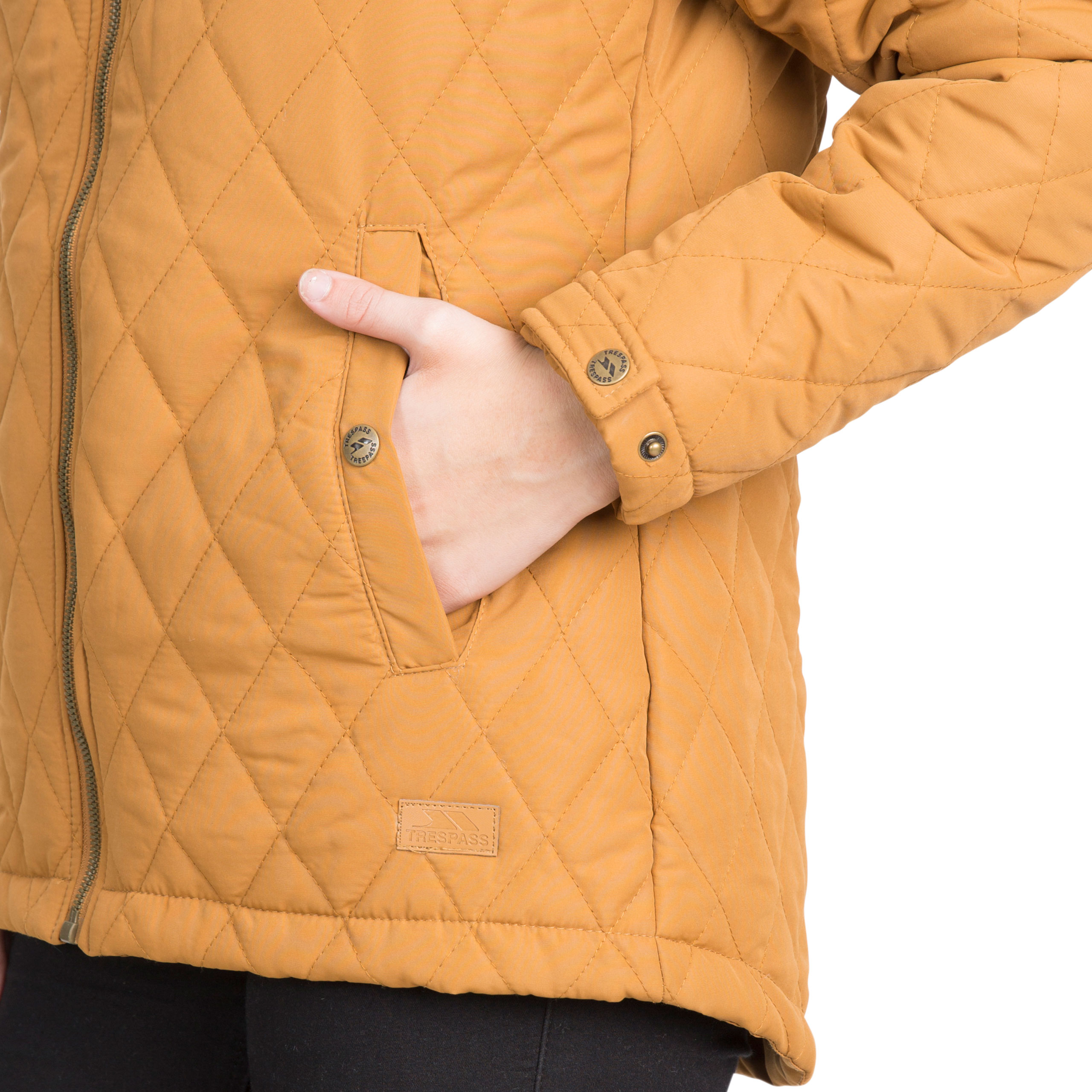 Trespass-Genevieve-Womens-Padded-Jacket-Casual-Quilted-Coat-With-Hood thumbnail 19