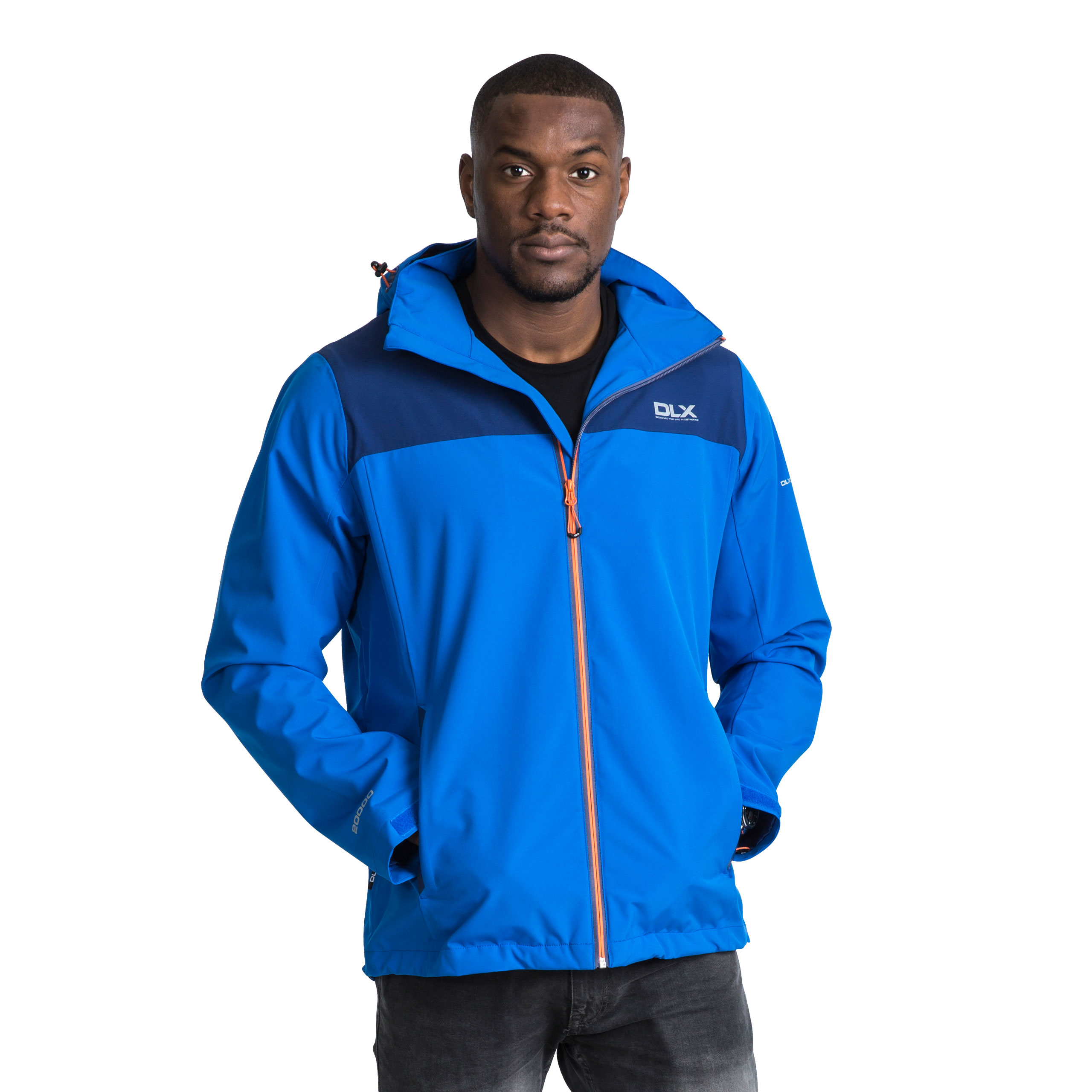 DLX-Ginsberg-DLX-Mens-Waterproof-Jacket-Hooded-Coat-in-Blue-and-Grey thumbnail 14