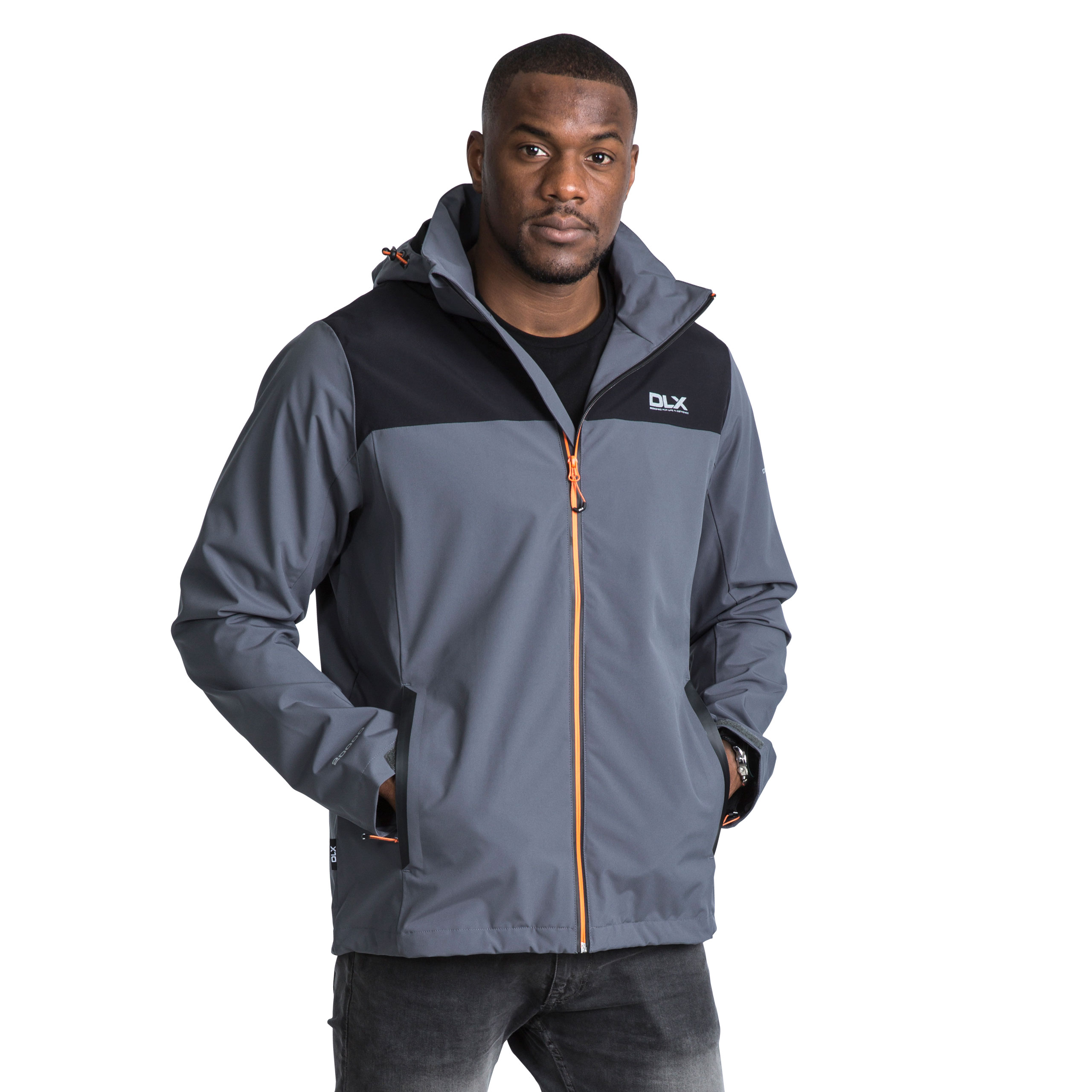 DLX-Ginsberg-DLX-Mens-Waterproof-Jacket-Hooded-Coat-in-Blue-and-Grey thumbnail 16