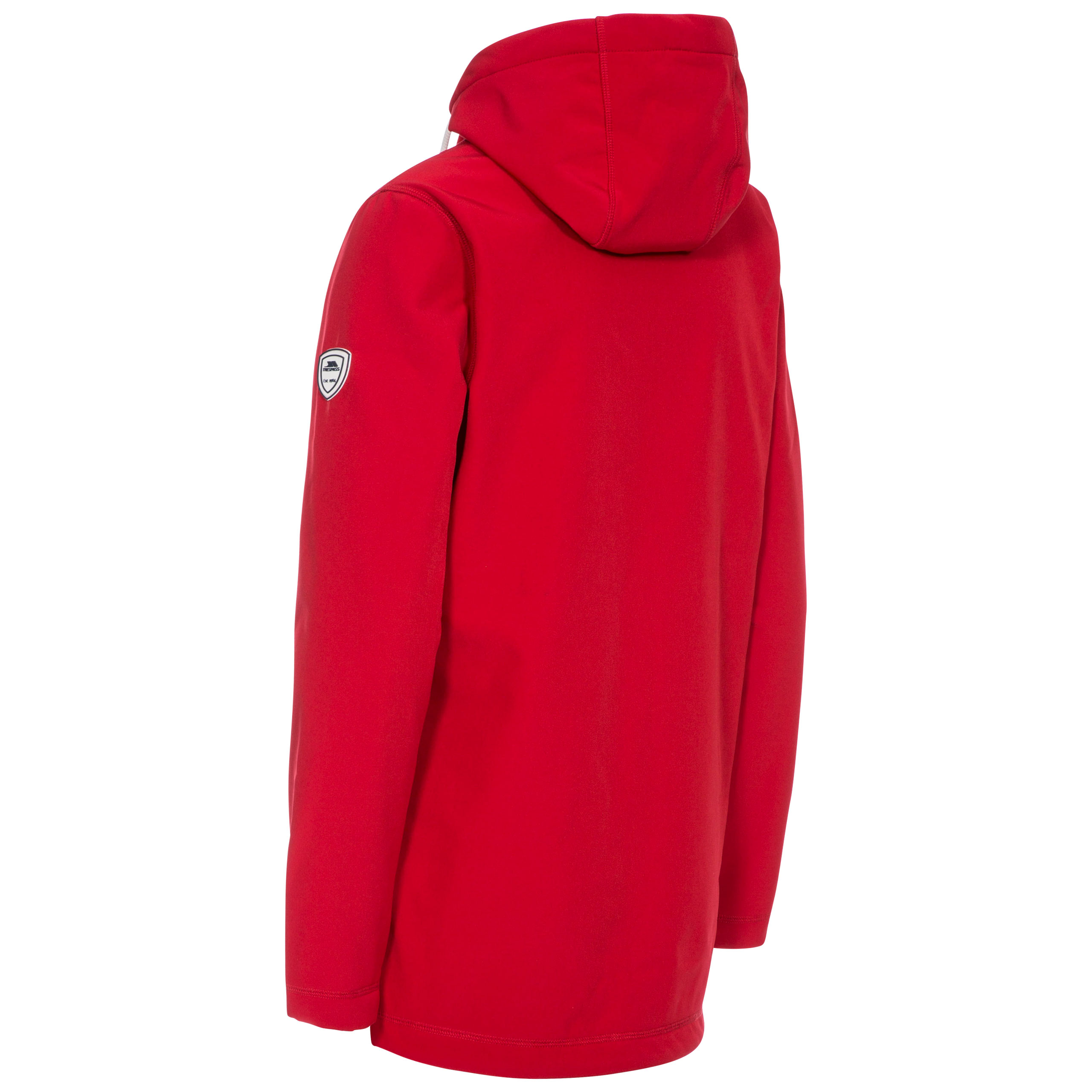 Trespass-Kinsley-Womens-Softshell-Jacket-Waterproof-Coat-With-Hood-Red-Blue thumbnail 14