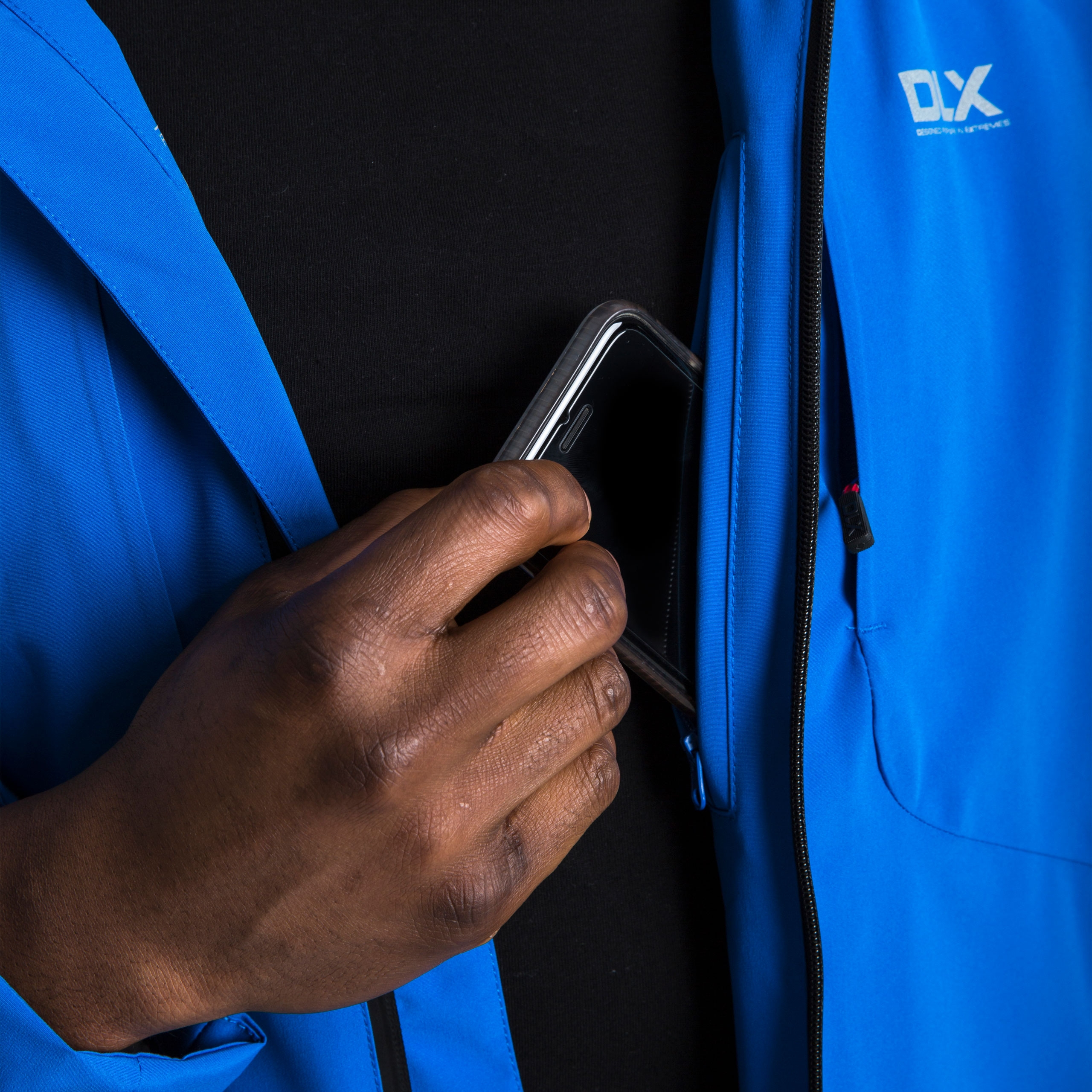 DLX-Kumar-DLX-Mens-Waterproof-Jacket-with-Hood-in-Blue-Red-amp-Black thumbnail 15