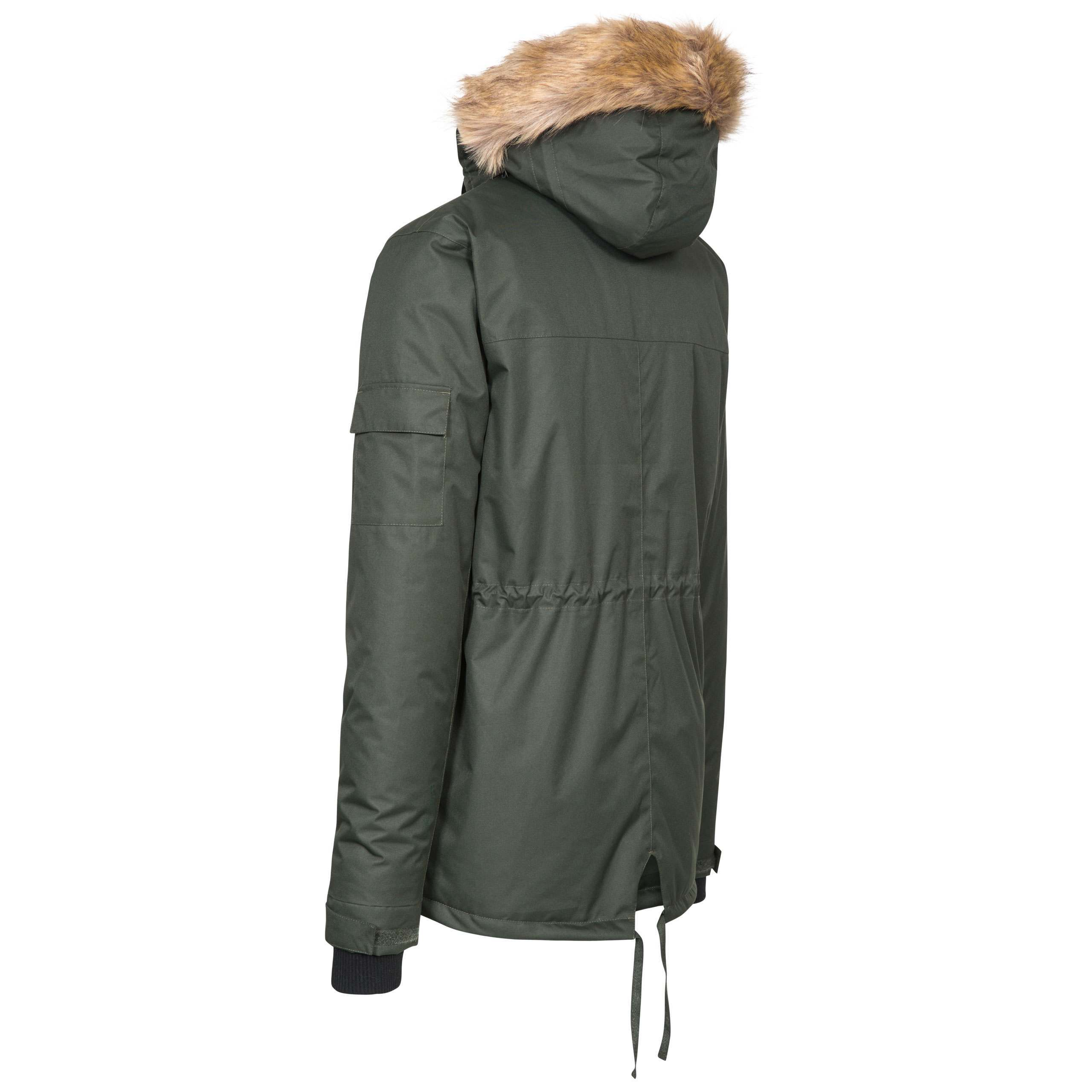Trespass-Mens-Parka-Jacket-Winter-Waterproof-Coat-with-Fleece-amp-Hood thumbnail 16