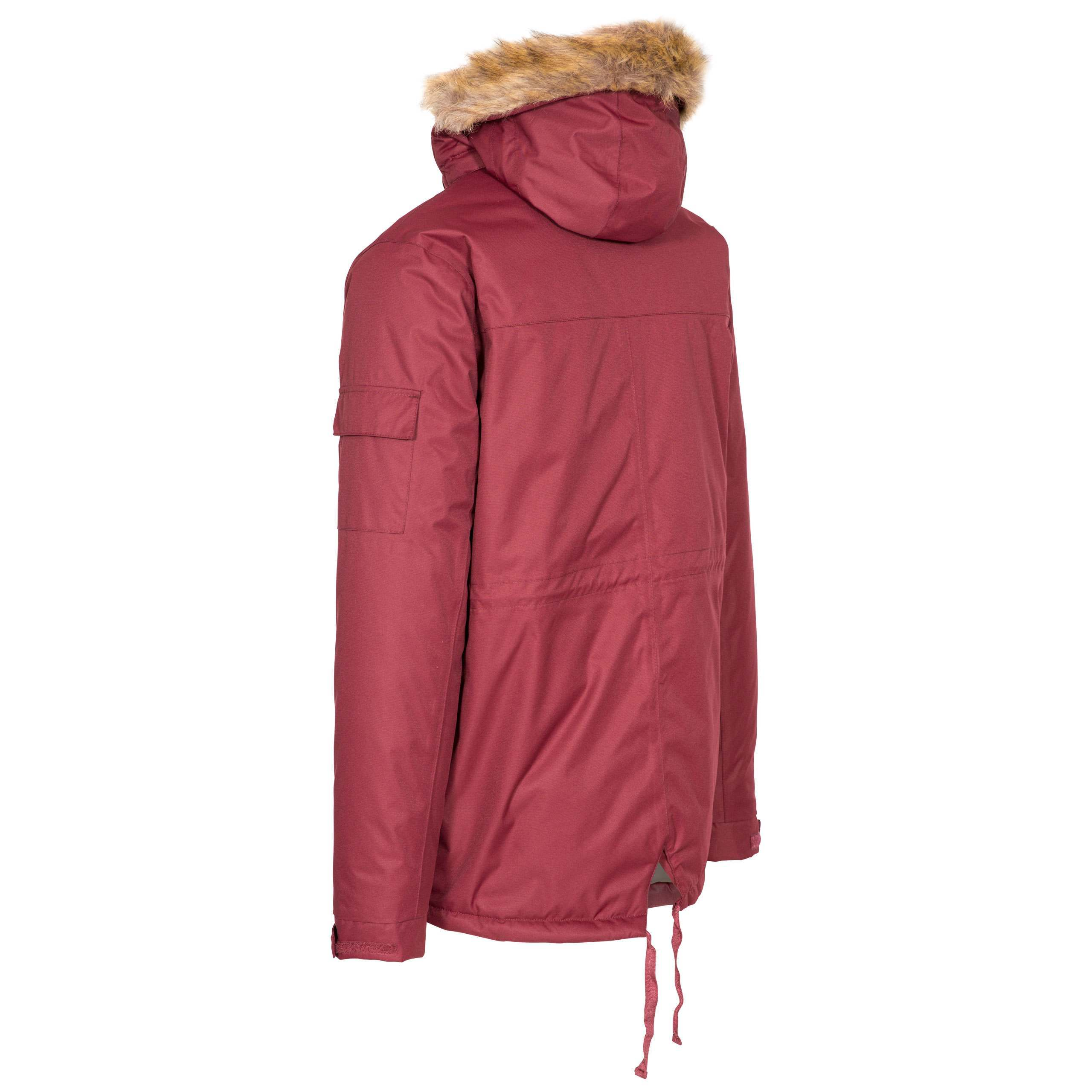 Trespass-Mens-Parka-Jacket-Winter-Waterproof-Coat-with-Fleece-amp-Hood thumbnail 18