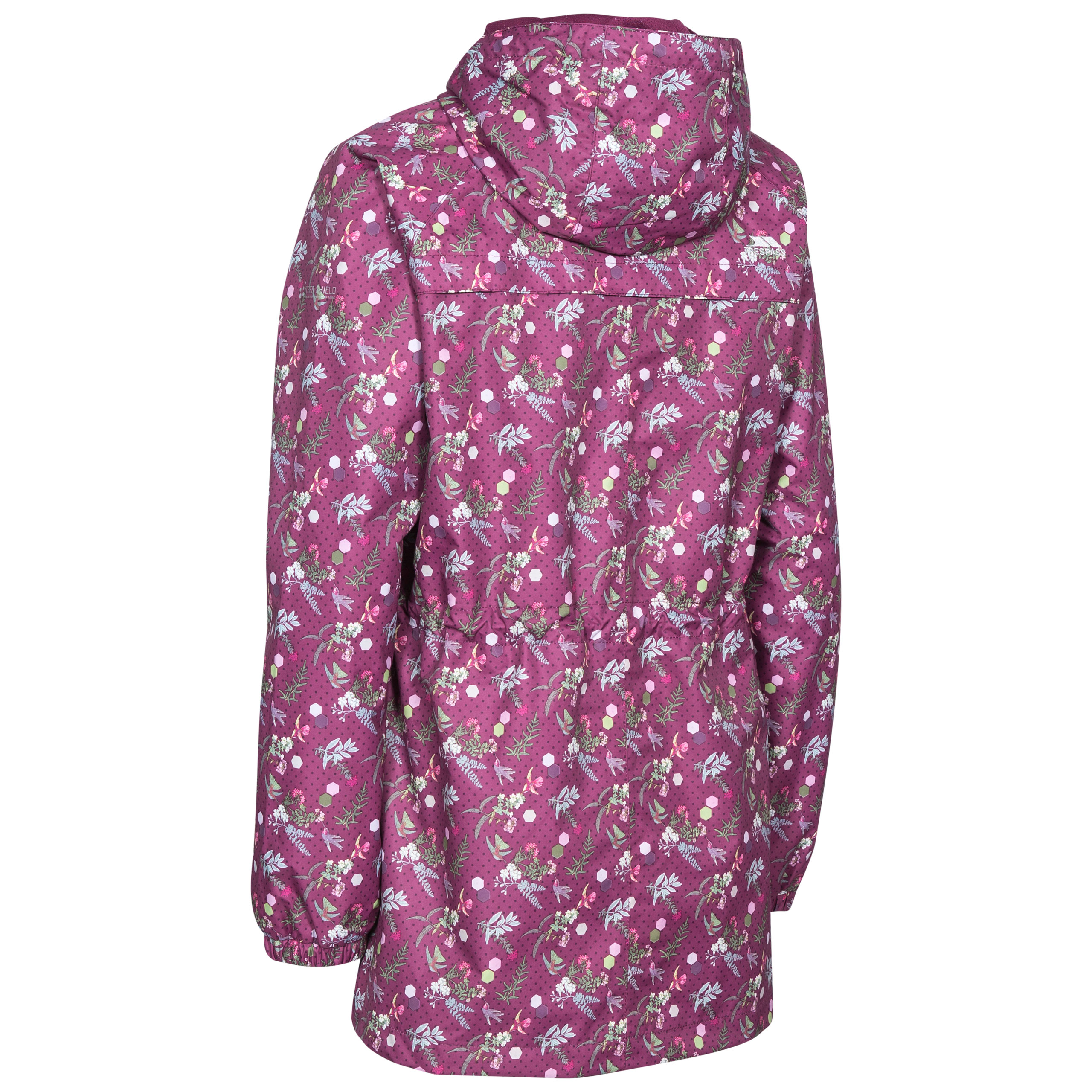 Trespass-Womens-Waterproof-Wind-Jacket-Hooded-Raincoat-Floral-Print thumbnail 14