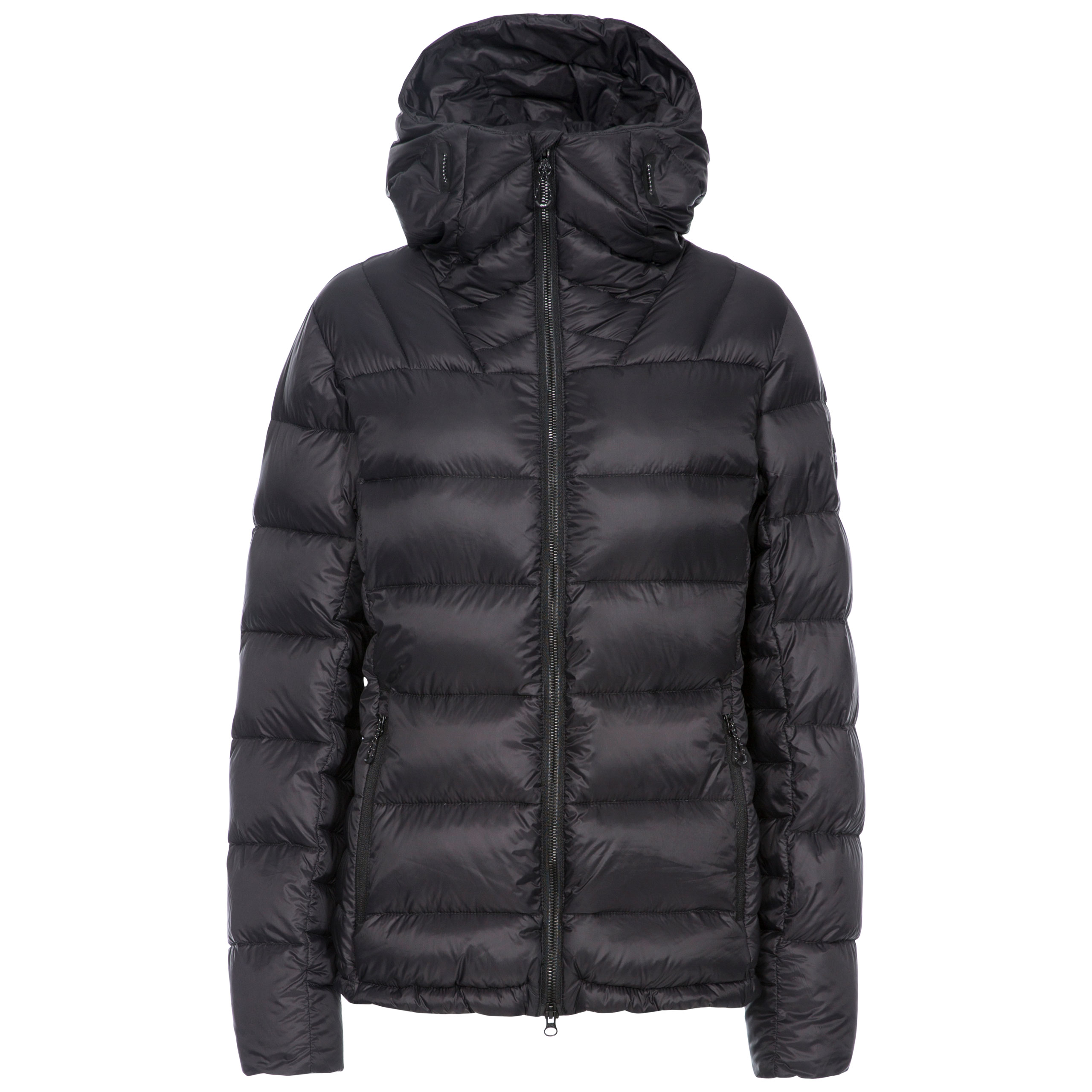 DLX-Pedley-Womens-Down-Jacket-DLX-Puffer-In-Black-With-Hood thumbnail 4