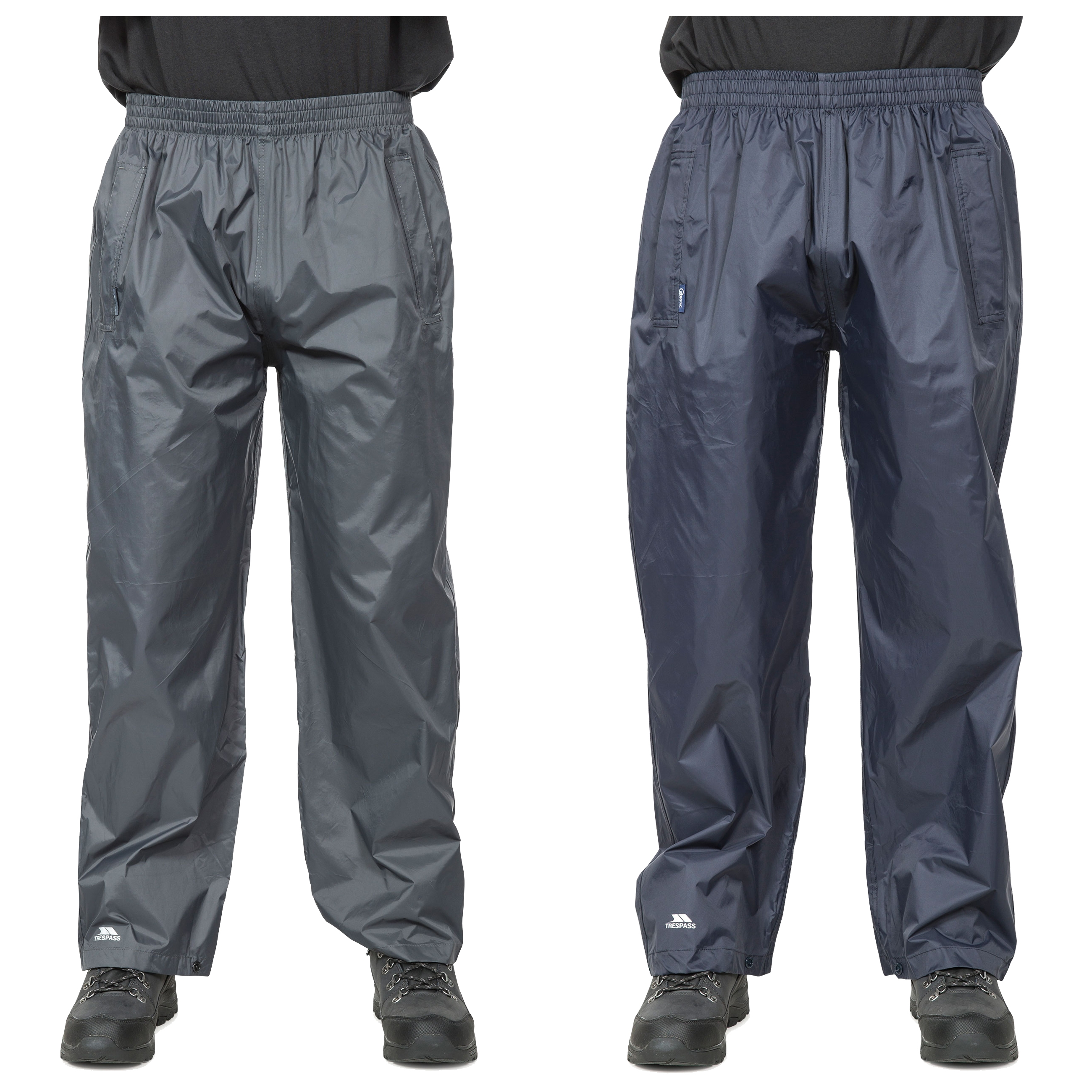 Trespass-Mens-Womens-Waterproof-Trousers-Packaway-Breathable-Qikpac thumbnail 1