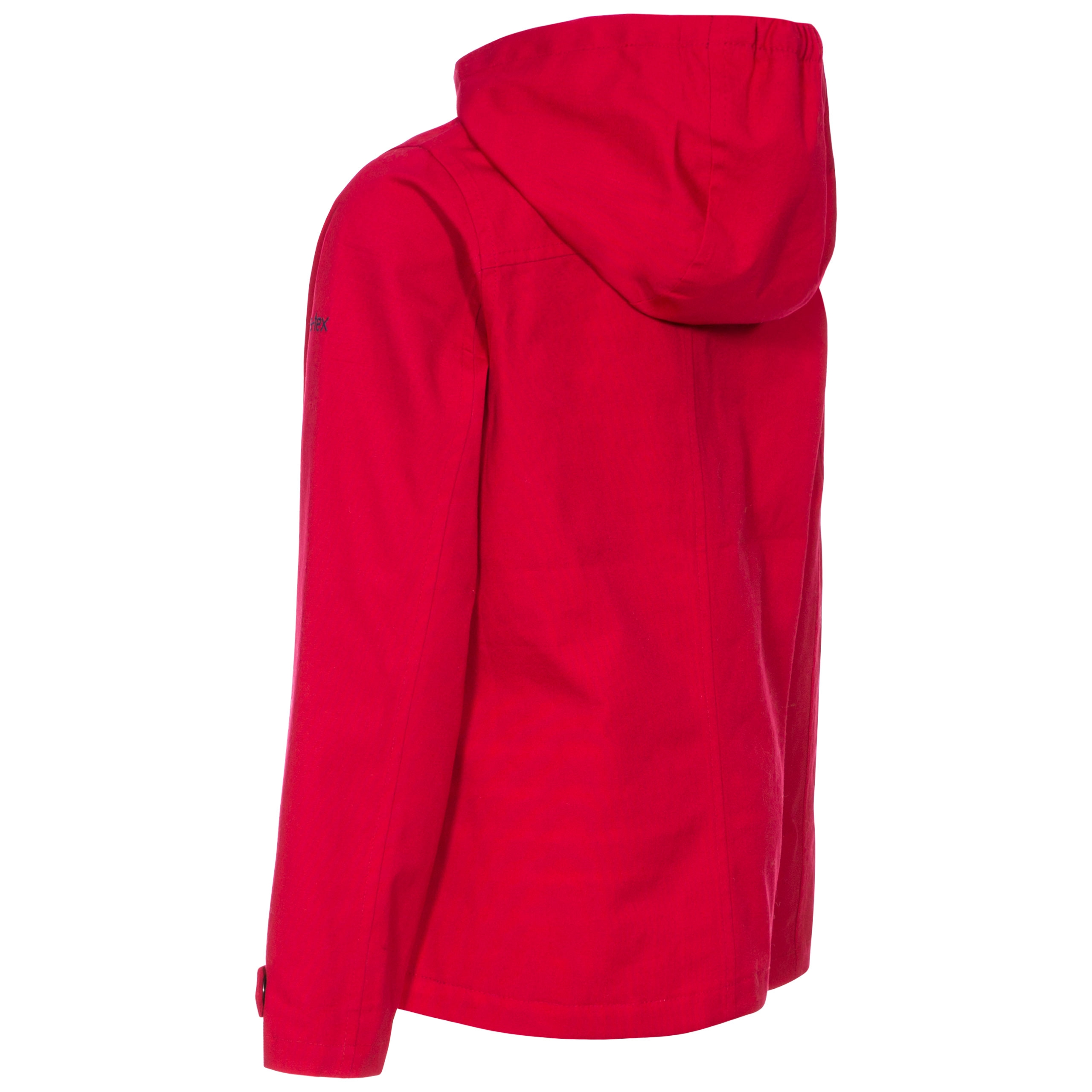 Trespass Seastream Girls Waterproof Jacket in Red /& Purple With Hood