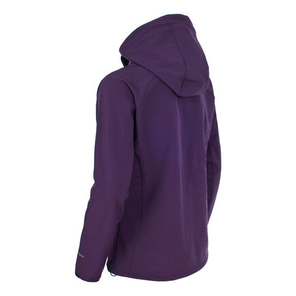 Trespass-Bela-Womens-Soft-Shell-Jacket-Breathable-in-Black-amp-Purple thumbnail 22