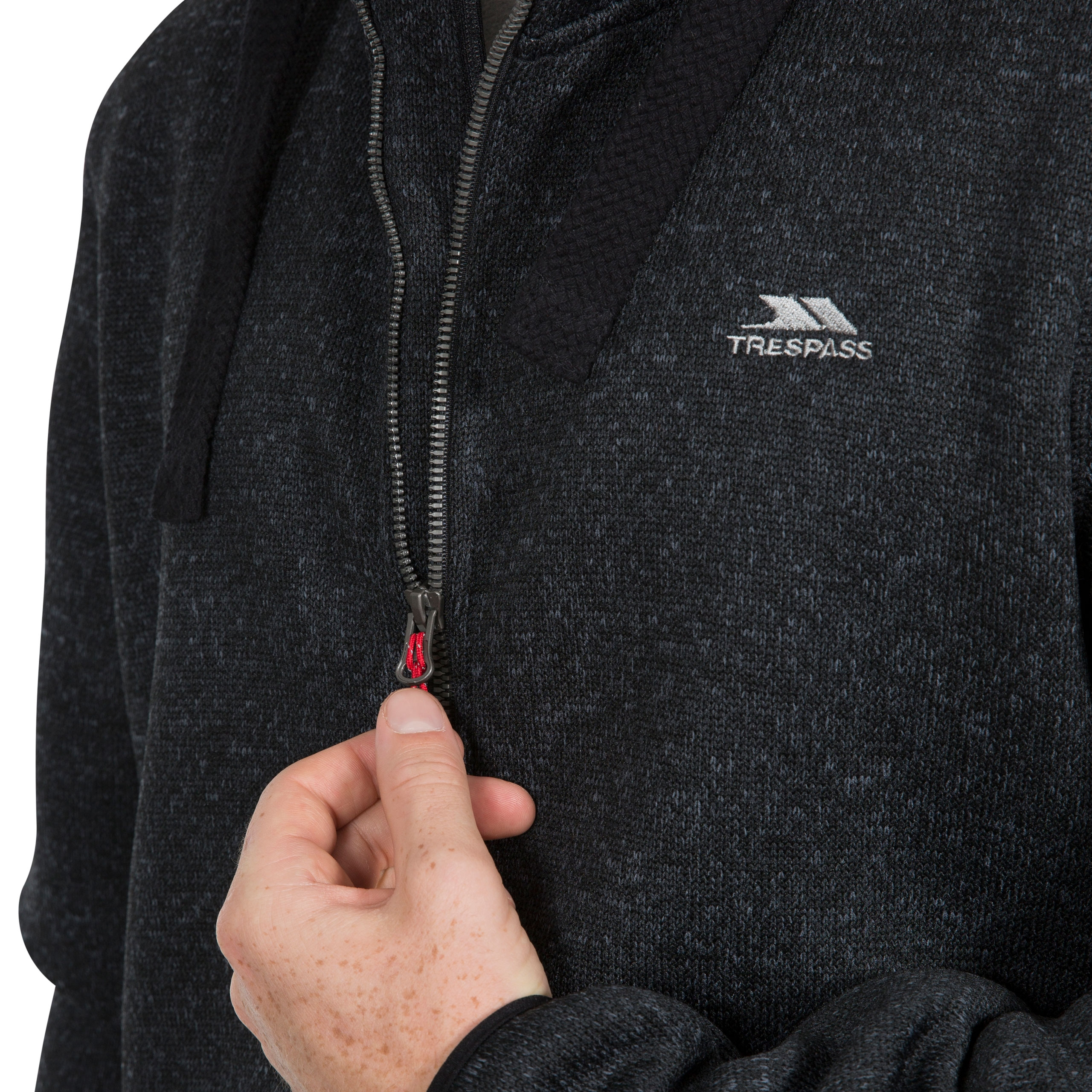 Trespass Mens Tableypipe AT500 Airtrap Hooded Fleece Jacket