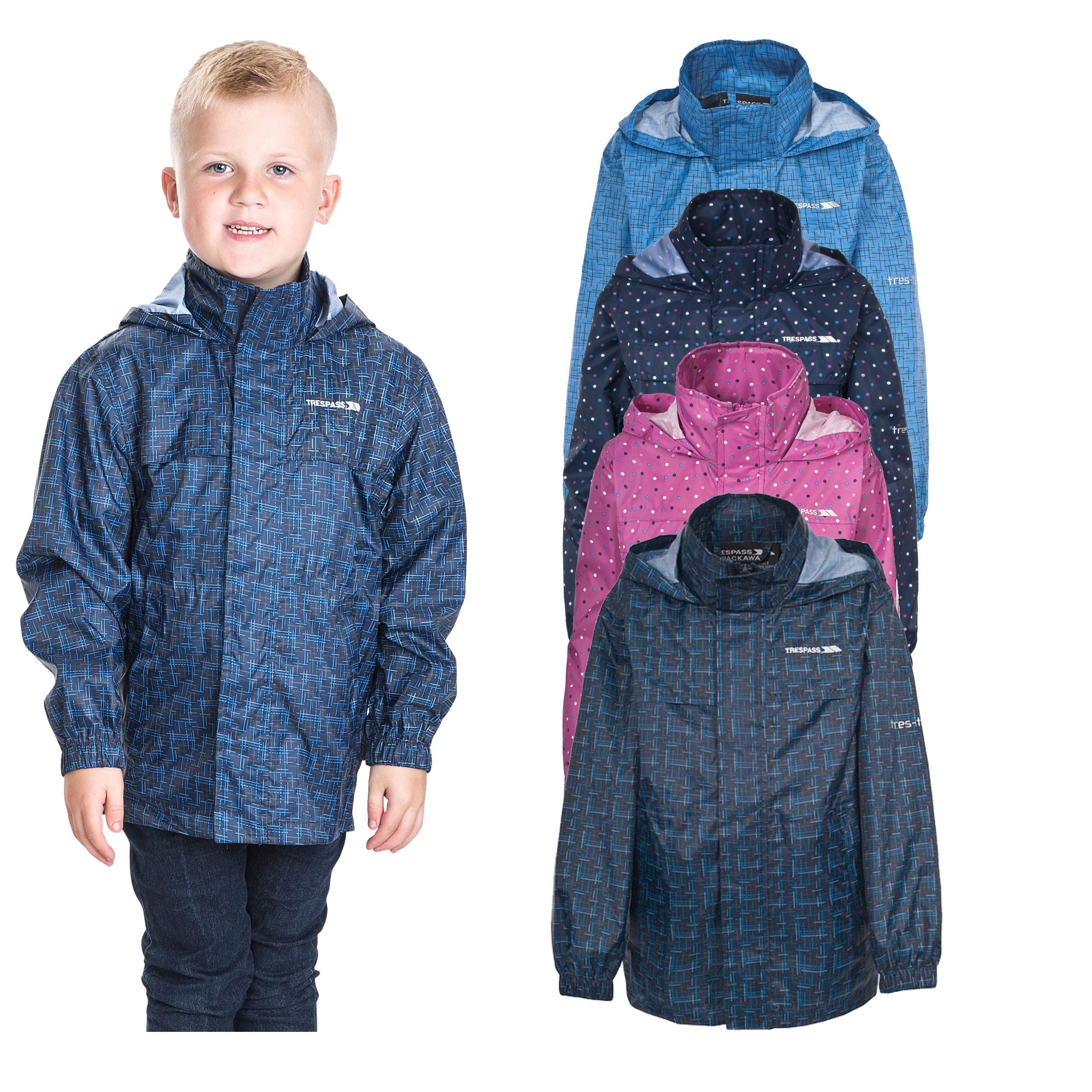 Trespass Childrens//Kids Neely II Waterproof Jacket