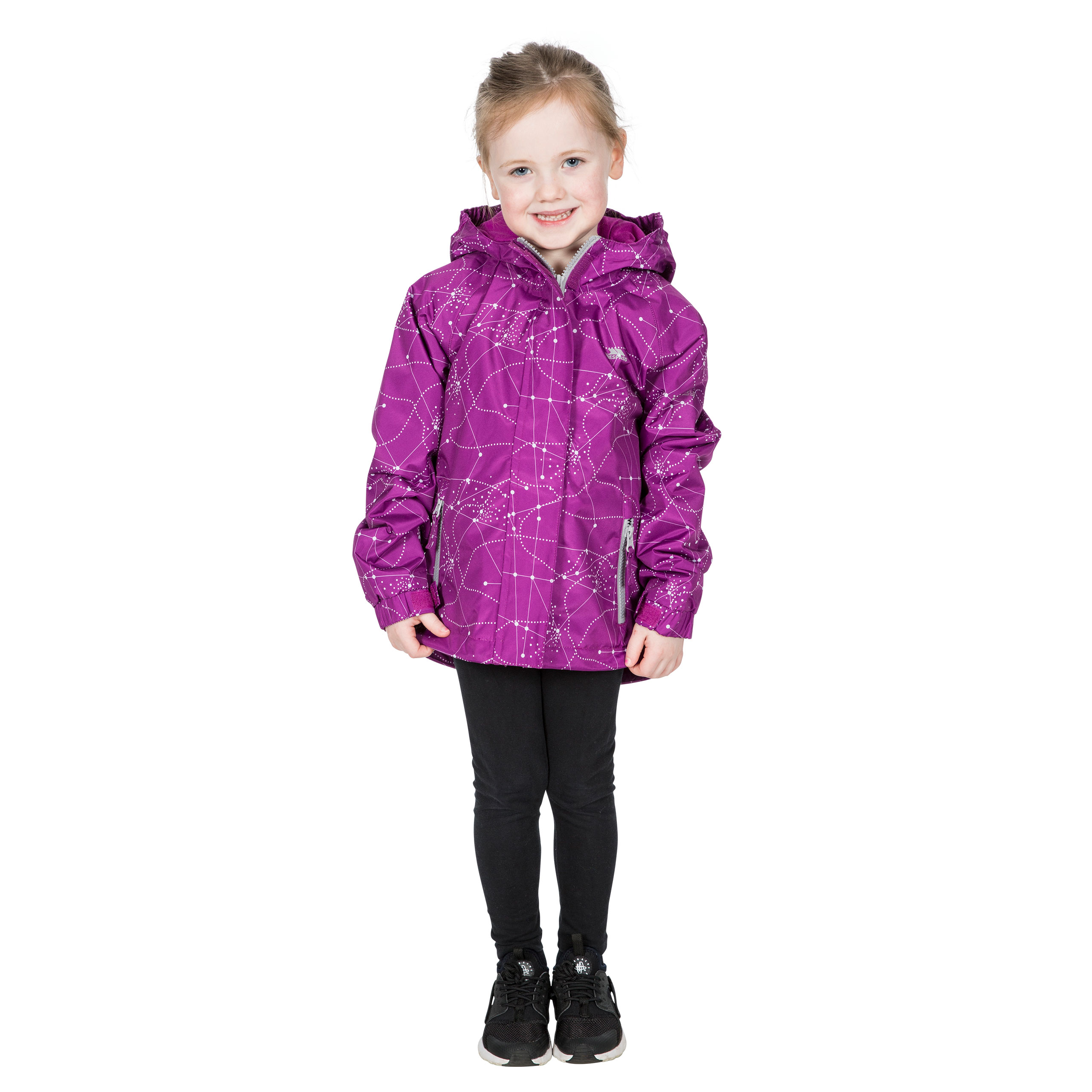 Trespass-Vilma-Girls-Waterproof-Jacket-in-Navy-and-Purple-With-Hood thumbnail 15
