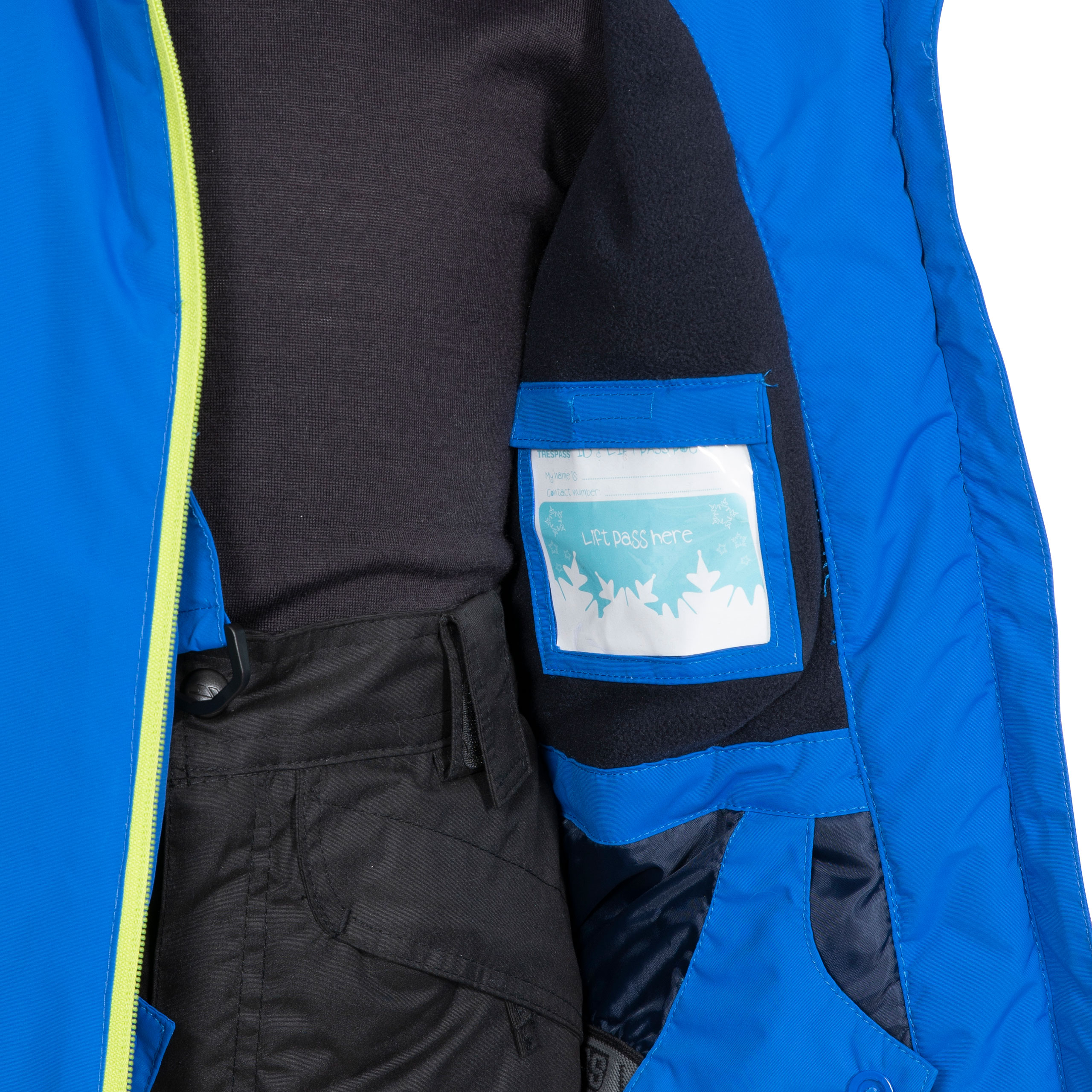 Trespass-Boys-Ski-Jacket-Waterproof-Blue-Hooded-Warm-Coat-Kids-2-12-Years thumbnail 12