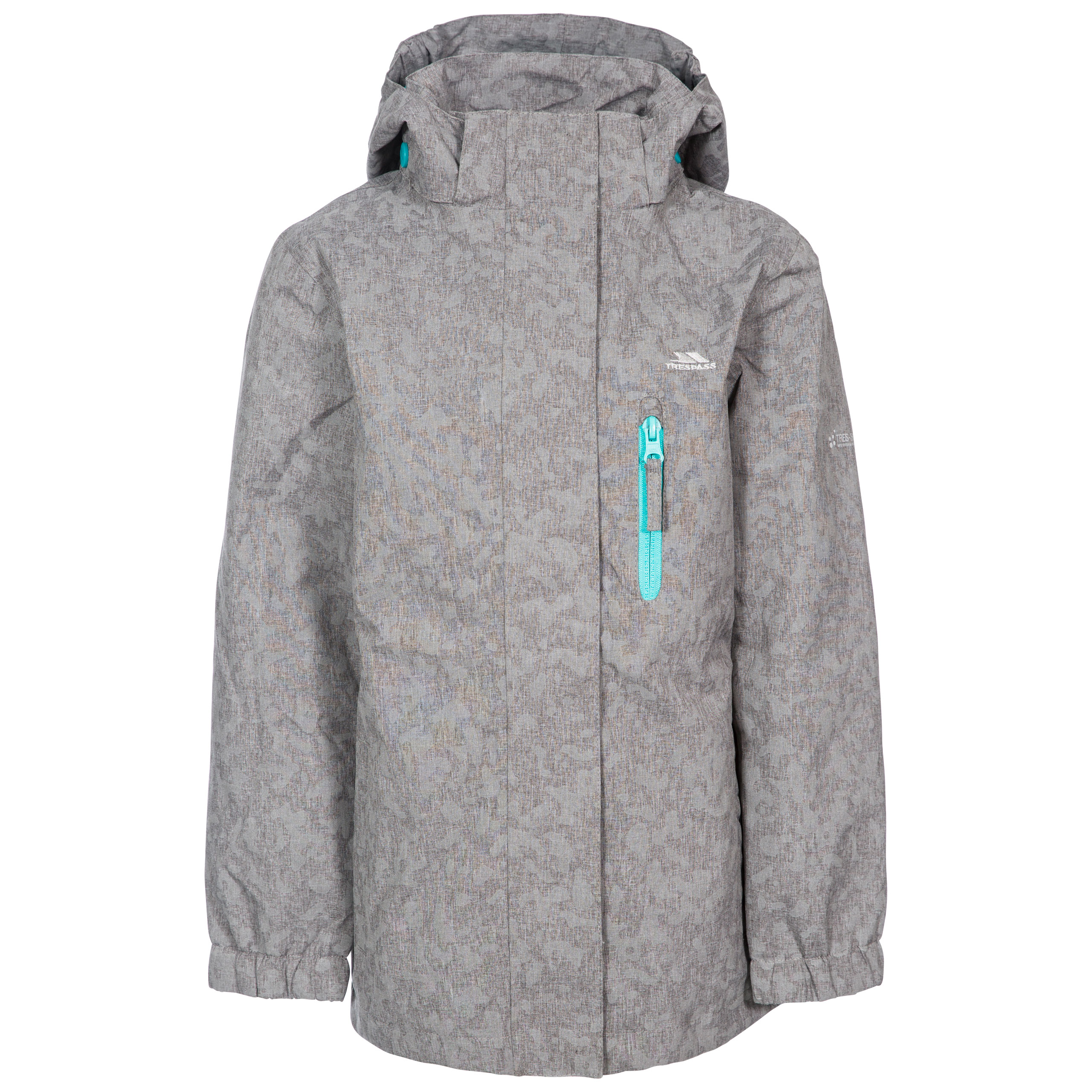 Trespass-Zoey-Girls-Waterproof-Reflective-Jacket-Rain-Coat-With-Hood thumbnail 4